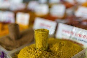 Various spices on farmer market