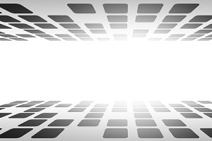 Cubes in virtual empty cyberspace re