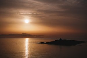 Foggy Greek Coastline Sunrise