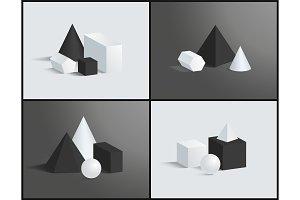 Cube Cone Cuboid Sphere Various