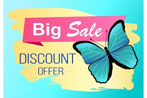 Big Sale Spring Discount Offer Label