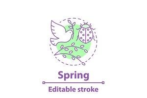 Spring season concept icon