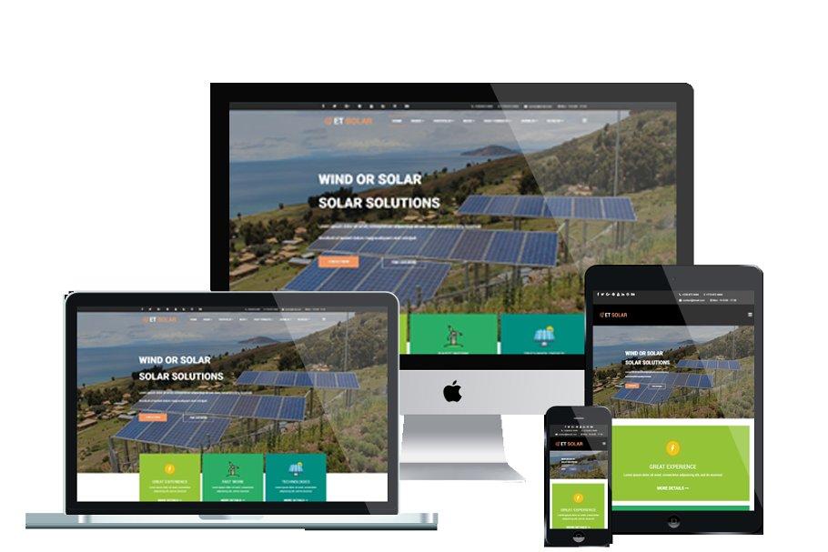 ET Solar - Energy Wordpress Theme