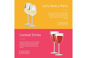 Lets Have Party Cocktail Drinks Set