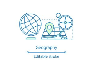 Geography concept icon