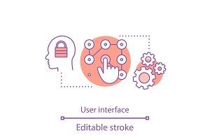 User access and control concept icon