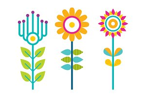 Bright Creative Flowers with