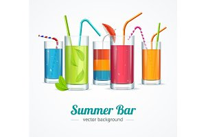 Summer Bar Concept Card Poster