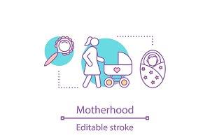Motherhood concept icon