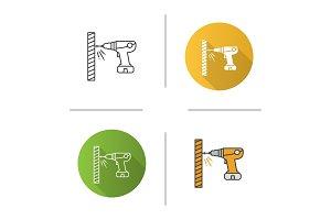 Portable electric screwdriver icon