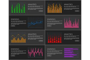 Analytics Set of Web Pages Vector