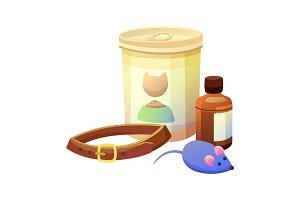 Pet Shop Items Collection, Vector