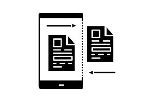 Data transfer glyph icon