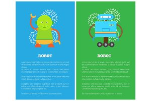 Robot with Smile Collection Vector