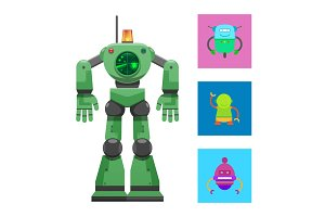 Robot with Radar Collection Vector