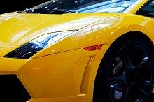 Modern fast car close up