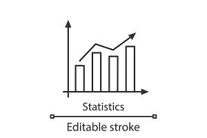 Statistics linear icon