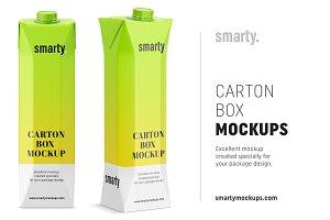 Carton Juice Mockups