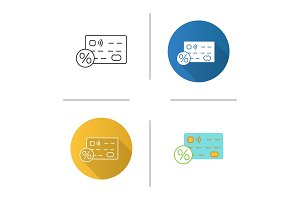 Credit card interest rate icon