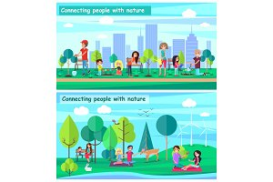 Connecting People with Nature Set