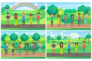 People Cartoon Characters