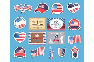 American Independence Day Stickers