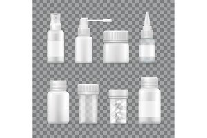 Medicaments Set Isolated on