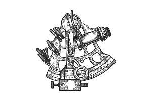 Sextant navigation instrument vector