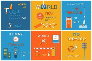 World No Tobacco Day Set of Posters