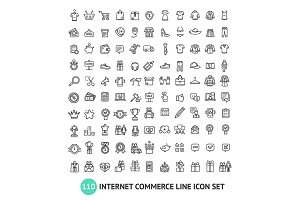 E-commerce Shopping Thin Line Icons