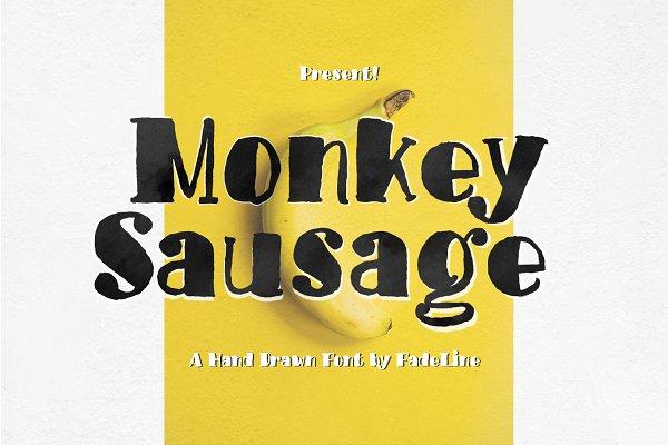 Monkey Sausage! Funny Font