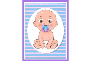It Boy Poster Newborn Toddler with