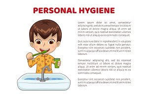 Personal Hygiene Info Poster with
