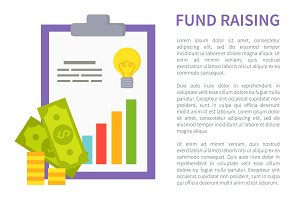 Fund Raising Promo Banner with Money