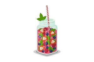 Mug of Refreshing Drink Fresh
