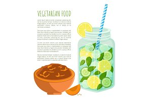Vegetarian Food Poster Detox Diet