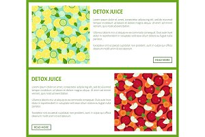 Detox Juice Poster Ingredients of