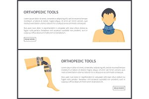 Orthopedic Tools Web Pages Vector