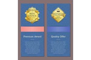 Premium Award Quality Offer Golden