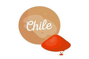 Chile Spice Poster Headline Vector