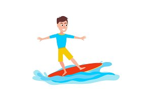 Surfing Sport Activity and Boy
