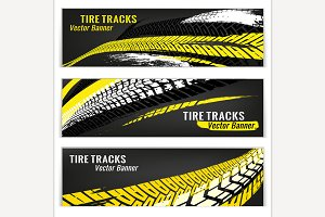 Motorcycle Tire Banners