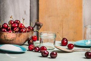 Cherry berries preserving