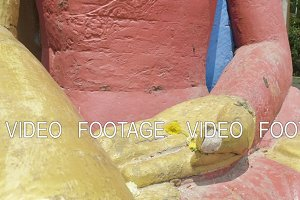 Hands of Buddha statue in the