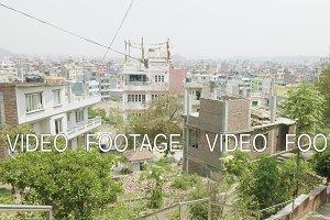 Buildings in asian city Kathmandu