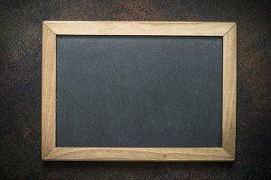 Vintage chalkboard in wooden frame