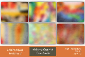 Color canvas textures V