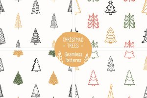 Christmas Trees - Seamless Patterns