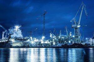 Shipyard at work