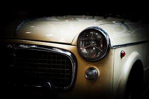 Retro classic car. Vintage